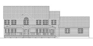 Colonial House With Farmers Porch Custom Colonial House Plans Home Construction Improvement