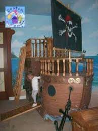 Pirate Ship Bunk Bed Pirate Ship Theme Children S Bed Nautical Kid S Room Pinterest