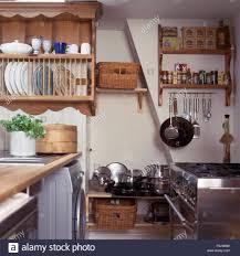 storage kitchen dish organizer pine plate rack above in cottage