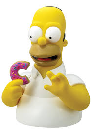Homer Simpsons Homer With Donut Bank