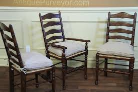 rustic ladder back chairs with rush seats u0026 upholstered cushions