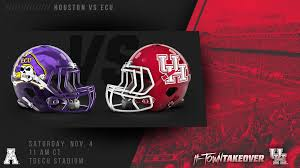 uhcougars com game notes htowntakeover vs ecu university
