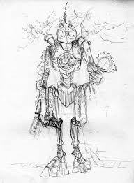 steampunk robot sketch by elisa caballos on deviantart