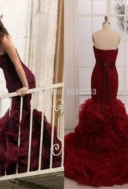 burgundy dress for wedding tulle one shoulder mermaid wedding dress wedding dress ideas
