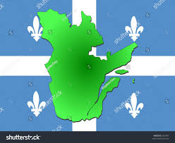 Quebec Map Map Quebec Their Flag Illustration Stock Vector 3337667 Shutterstock