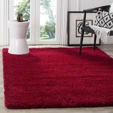 safavieh california cozy plush red shag rug 5 u00273 x 7 u00276 free