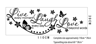 Love Laugh Live Aliexpress Com Buy Live Laugh Love Wall Art Sticker Lounge Room
