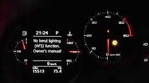 seat leon mk2 mfd no bend lighting afs function warning youtube