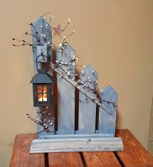rustic home decor primitive lantern candle holder decor