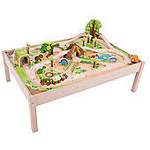 wooden train set table toy trains tracks wooden electric sets tesco