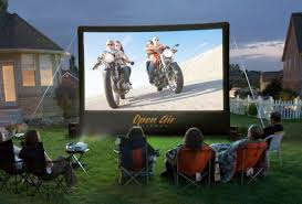 outdoor diy backyard movie theater backyard theater systems