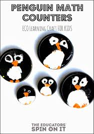 penguin math counters for preschool learning crafts for kids
