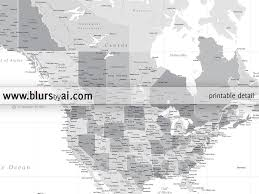 Blank North America Map by Printable North America Map With Cities Grayscale No Quote