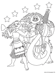 Winnie The Pooh Halloween Coloring Pages Moana Maui With The Stars Coloring Pages Printable