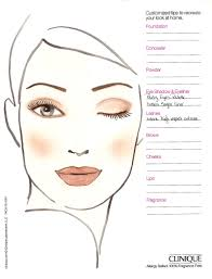blank makeup face charts restonstudio gallery clinique face chart 0015 jpg