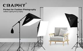 Photography Lighting Kit Amazon Com Craphy Photography Studio Soft Box Lighting Kit 20