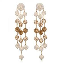 suzanna dai earrings samburu chandelier earrings ivory gold ombre suzanna dai