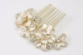 hair jewels matte gold bridal hair comb with jewels lynne
