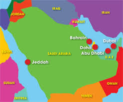 middle east map gulf of oman location abu dhabi