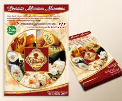 cara membuat brosur makanan sribu desain flyer brosur desain brosur untuk usaha cate