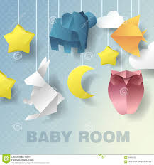 baby mobile room decoration baby shower invitation paper cut out