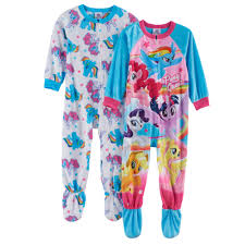 my pony 2 pk fleece footed pajamas