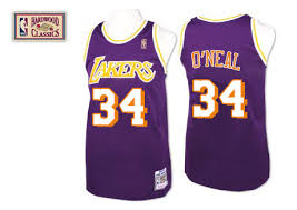 shaquille o u0027neal jersey authentic womens youth gold purple