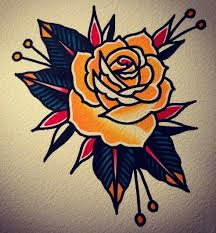 traditional rose tattoo u2026 pinteres u2026