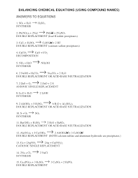 100 chemistry equations worksheet what is included in a
