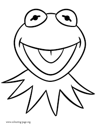 muppets kermit frog coloring