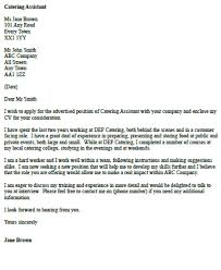 canteen manager cover letter
