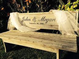 Personalized Park Bench Wedding Bench Custom Engraved Anniversary Gifts By Boutiquebenches
