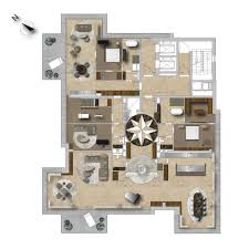 Penthouse Floor Plan by Modern Open Plan Architecture With Floor To Ceiling Windows