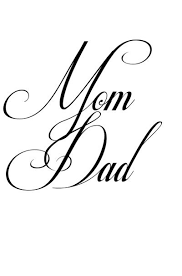 mom and dad lettering tattoo design