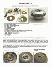 bdl competitor clutch for harley davidson 4 speed big twins e84