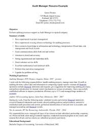 Leadership Skills Resume Example by Free Printable Audit Manager Resume Sample Displaying Simple