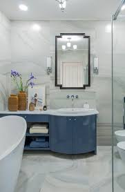 get inside an art deco bathroom with american touch in kyiv