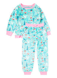 all u0027s clothing green christmas tree fleece pyjama set 1 12