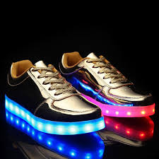 light up running shoes trendy lights up led luminous and metal color design casual shoes