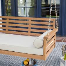 Swing Bench Outdoor by Belham Living Brighton Deep Seating 65 In Porch Swing Bed With