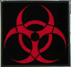 stained glass biohazard symbol the panic blog