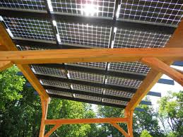 Pergola Roof Options by Hugh Lofting Timber Framing Solar Pergola
