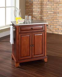 kitchen wooden portable kitchen island with storage drawers on