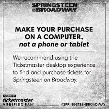 bruce springsteen verified fan bruce springsteen on twitter reminder tickets on sale today at