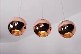 Tom Dixon Copper Pendant Light Tom Dixon Copper Shade Pendant Light Mirror Glass Pendant