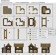 Mansion Blue Prints Woodland Hut Small Minecraft House Blueprint By Planetarymap On