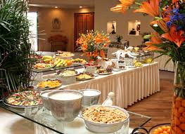 small buffet table setup home table decoration