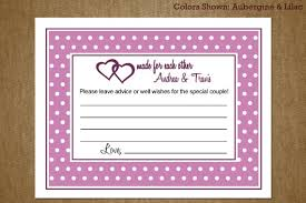wedding well wishes cards bridal shower advice card and well wishes bridal shower ideas