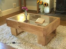 glass table top ideas amazing rustic oak coffee table best images about coffee table ideas