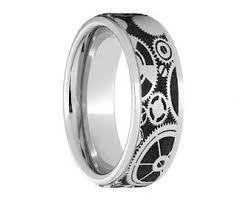 gear wedding ring gear ring engagement etsy
